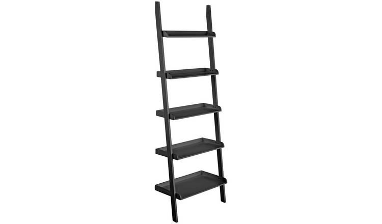 Habitat Jessie 5 Shelf Wide Leaning Bookcase - Black