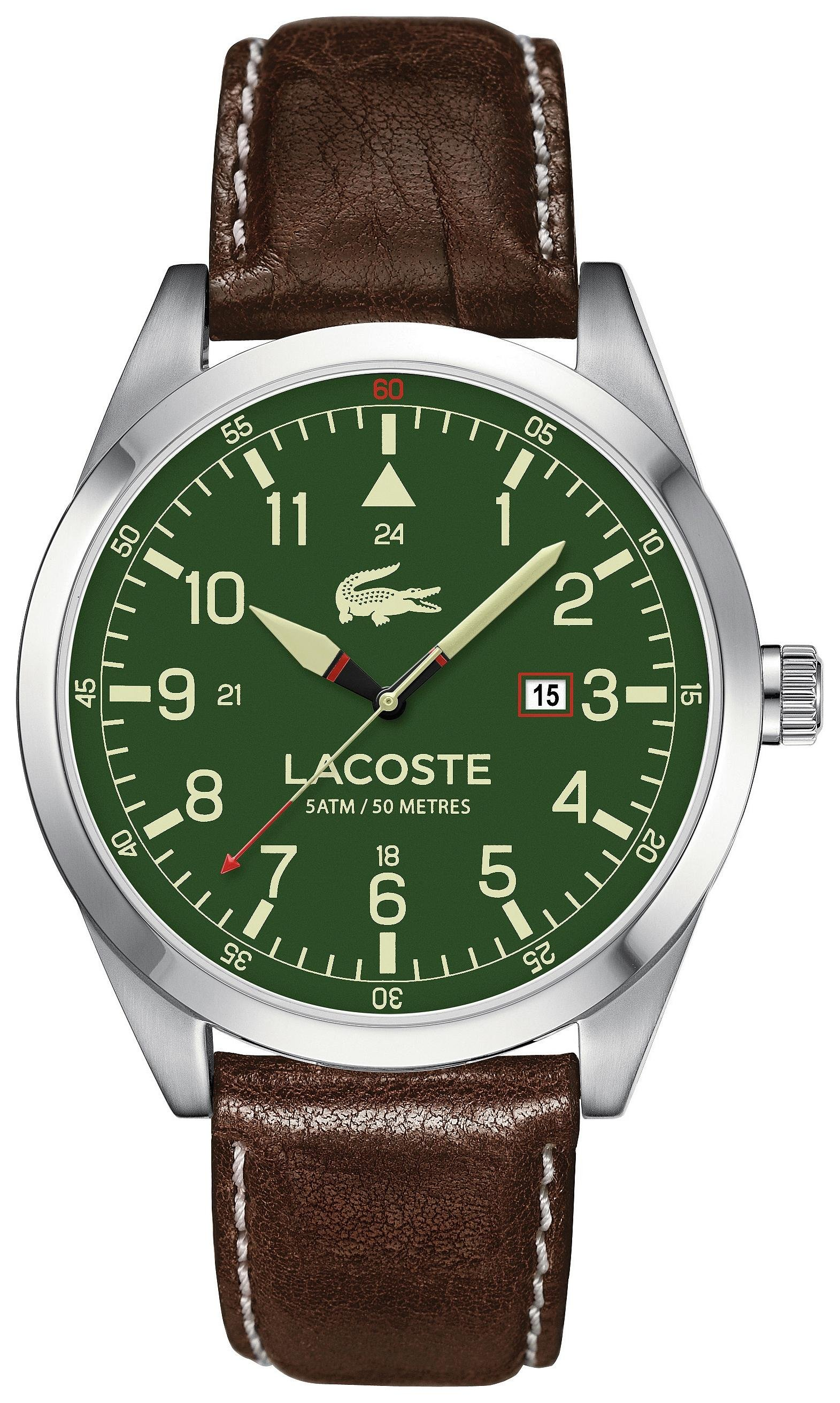 lacoste-mens-montreal-green-brown-strap-watch