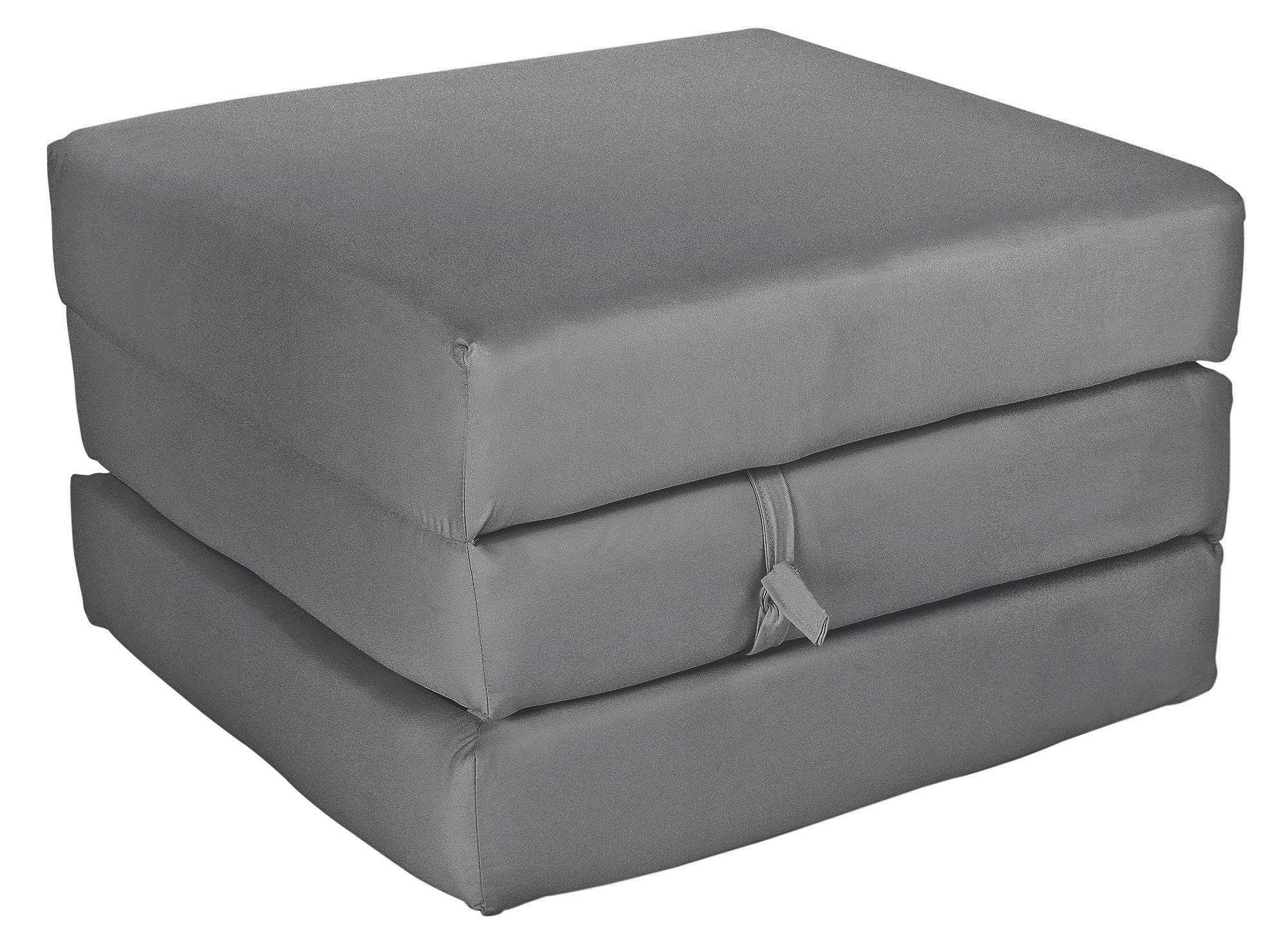 Habitat Single Mattress Cube - Flint Grey