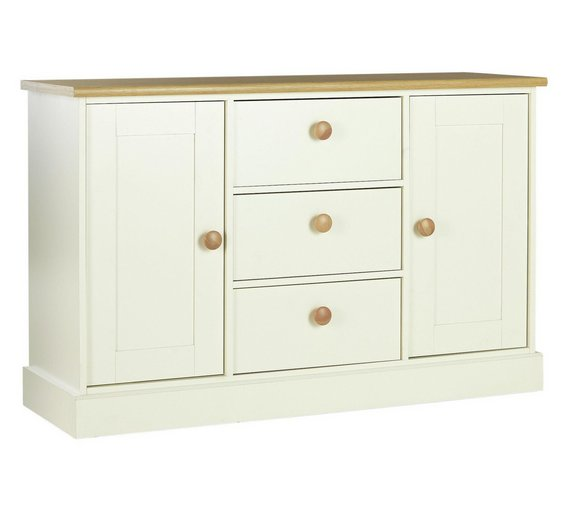 Buy Collection Winchester 2dr 3drw Sideboard White Solid