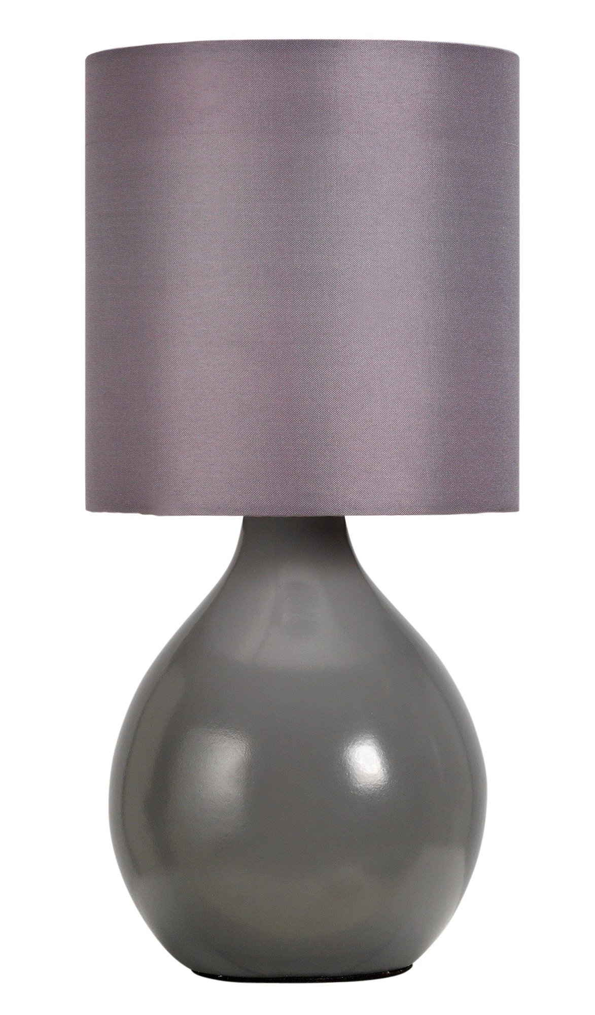 colourmatch round ceramic table lamp  flint grey.