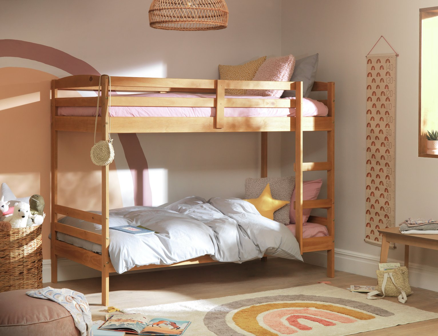 home-josie-single-bunk-bed-frame-pine