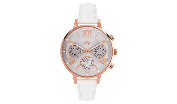 Spirit Ladies White Silicone Strap Watch