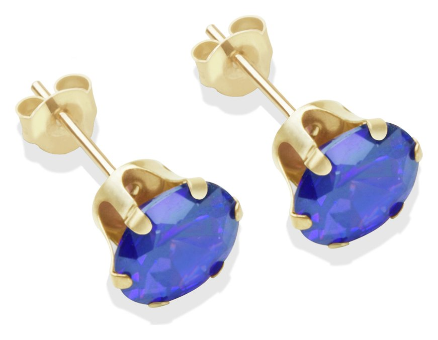 9-carat-gold-7mm-tanzanite-cubic-zirconia-stud-earrings