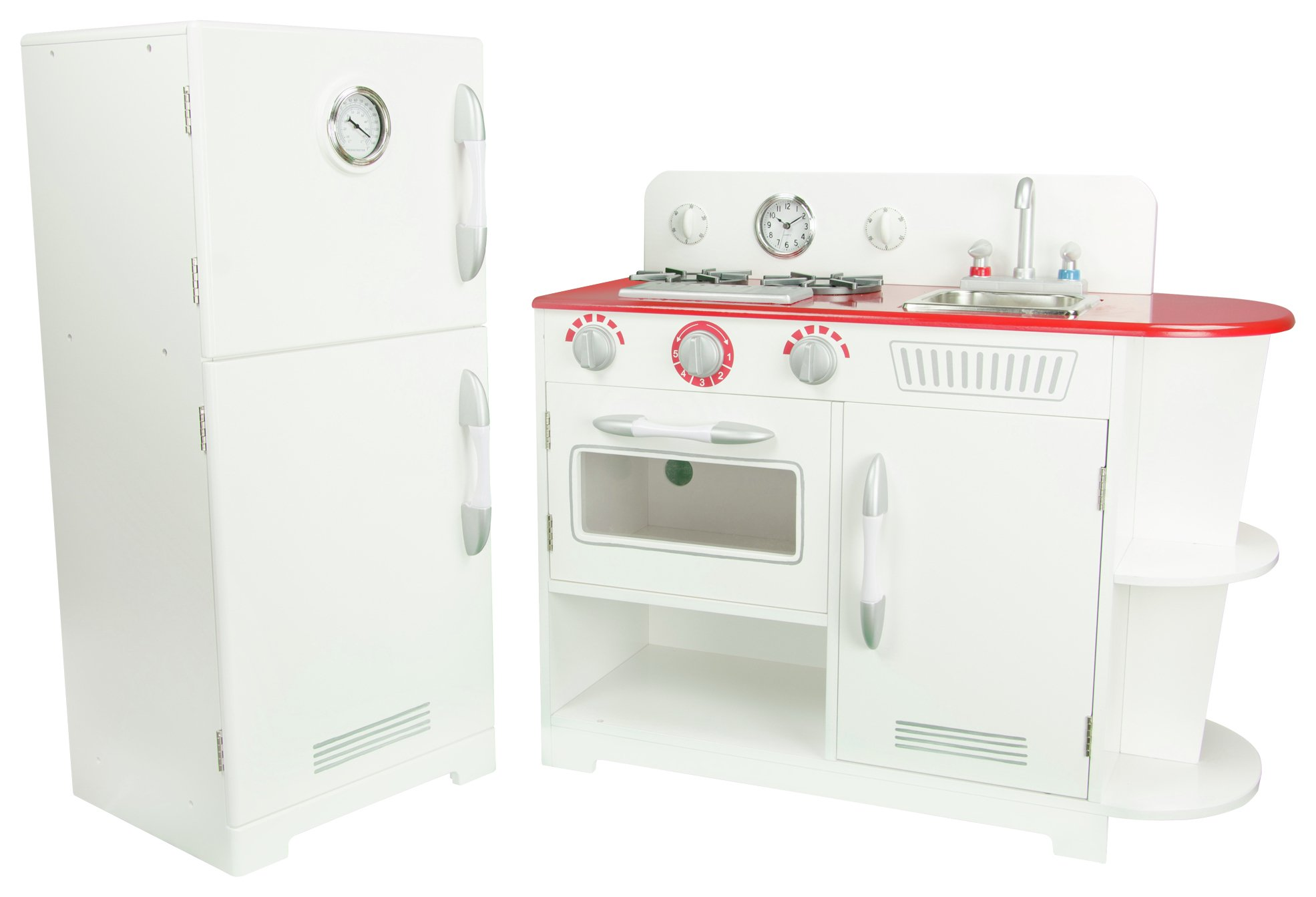 Teamson Kids Red and White Play Kitchen.