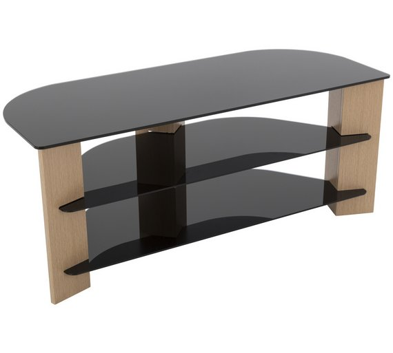 Buy Avf Up To 55 Inch Tv Stand Black Glass And Oak Effect Tv