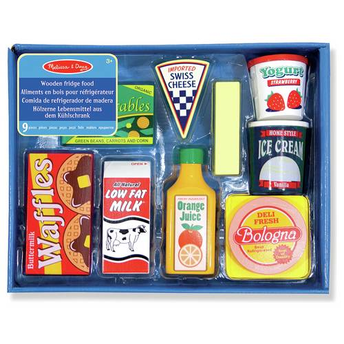 Buy Melissa Doug Wooden Fridge Food Playset Role Play Toys Argos