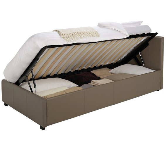 buy hygena attenborough single side opening ottoman bed. Black Bedroom Furniture Sets. Home Design Ideas