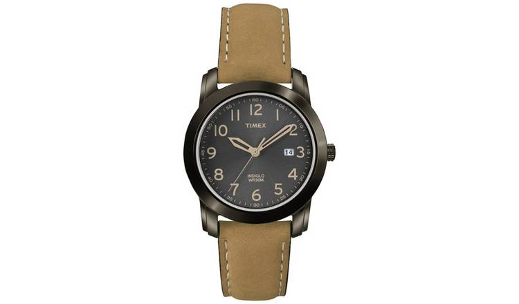 9207811b8cef73 Timex Men s Brown Leather Strap Classic Watch by Timex 418 7417