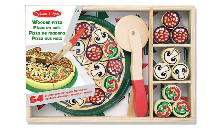 Buy Melissa Doug Wooden Pizza Set Role Play Toys Argos