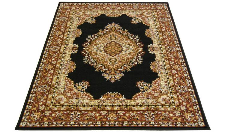 Maestro Traditional Rug - 200x290cm - Black.