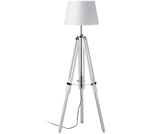 Buy floor lamp tripod base white floor lamps argos floor lamp tripod base white4187819 aloadofball Image collections