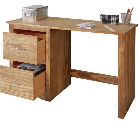Buy chester desk dark pine at your online shop for desks and workstations Argos home office furniture uk