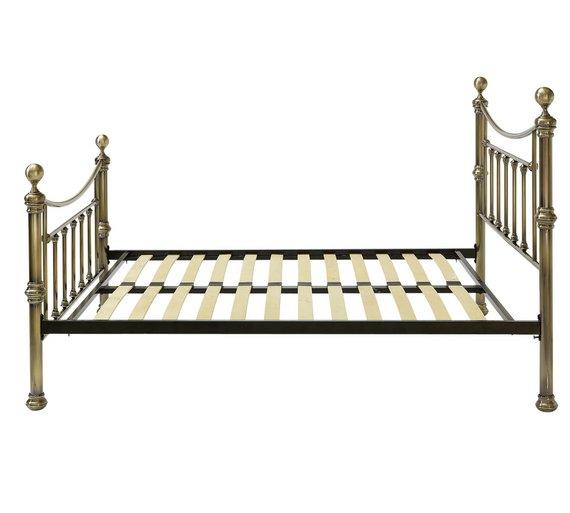 Buy Argos Home Mason Kingsize Bed Frame - Antique Brass   Bed frames ...