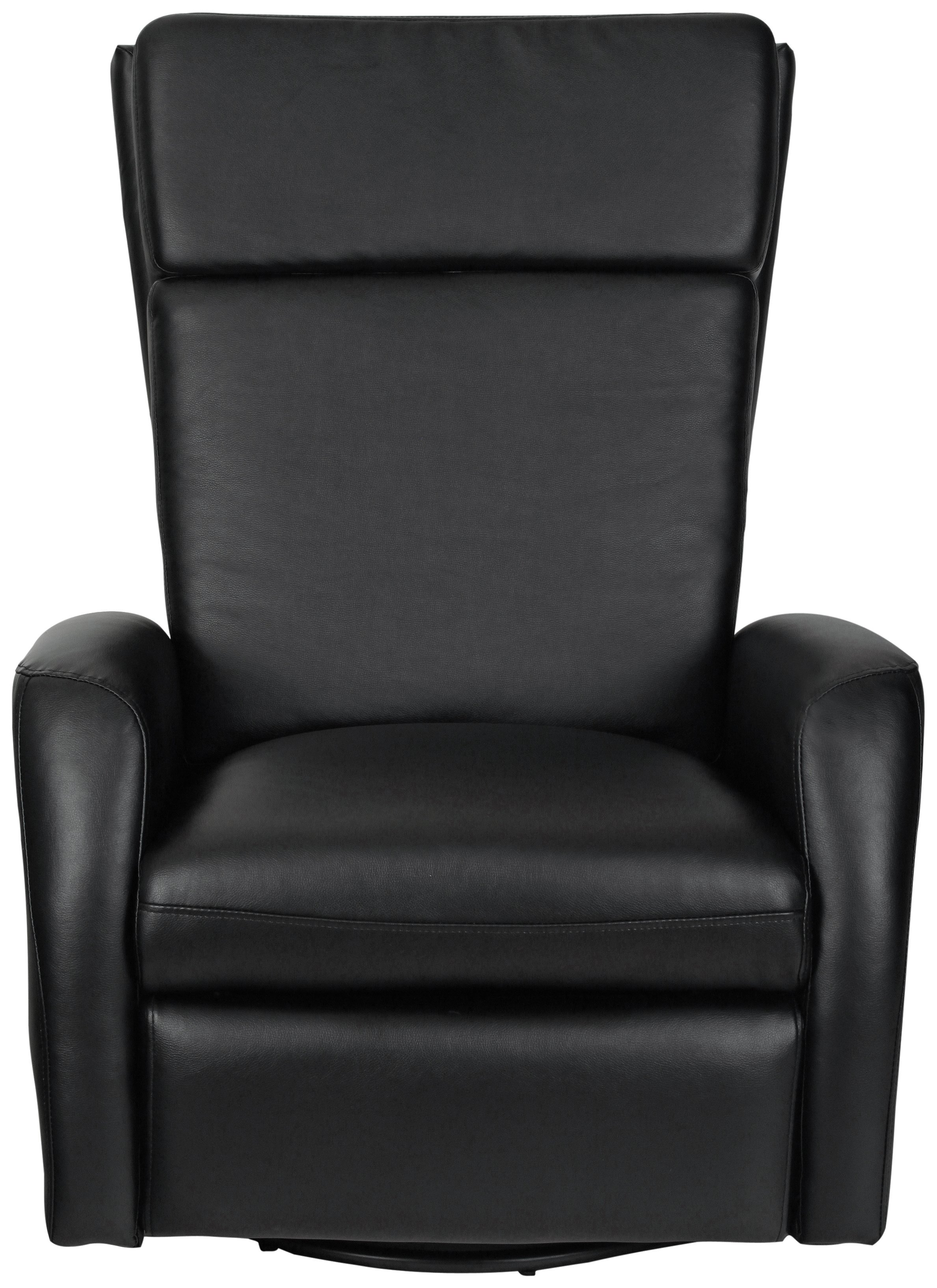 Collection - Rock-R-Round - Leather Eff - Recliner Chair - Black