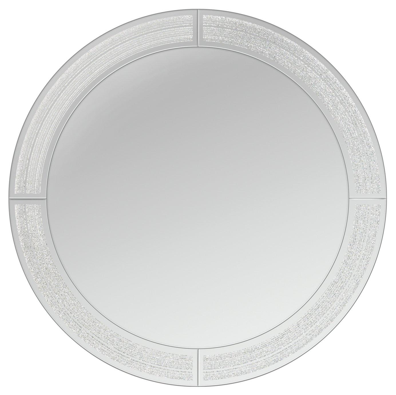 Innova Home Glitter Ascot Mirror - Silver