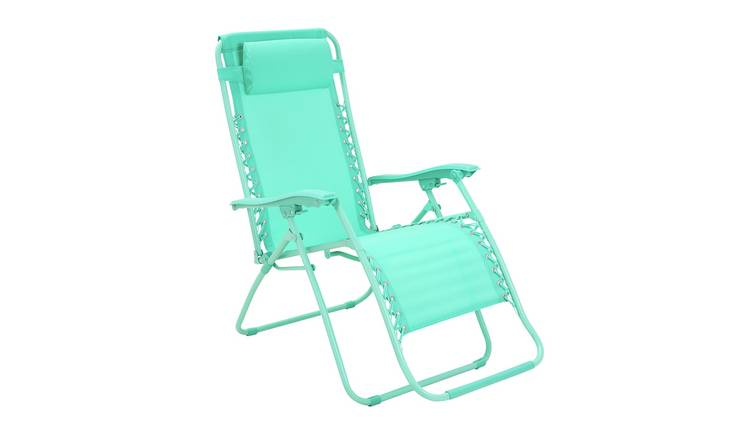 Argos Home Zero Gravity Sun Lounger - Teal
