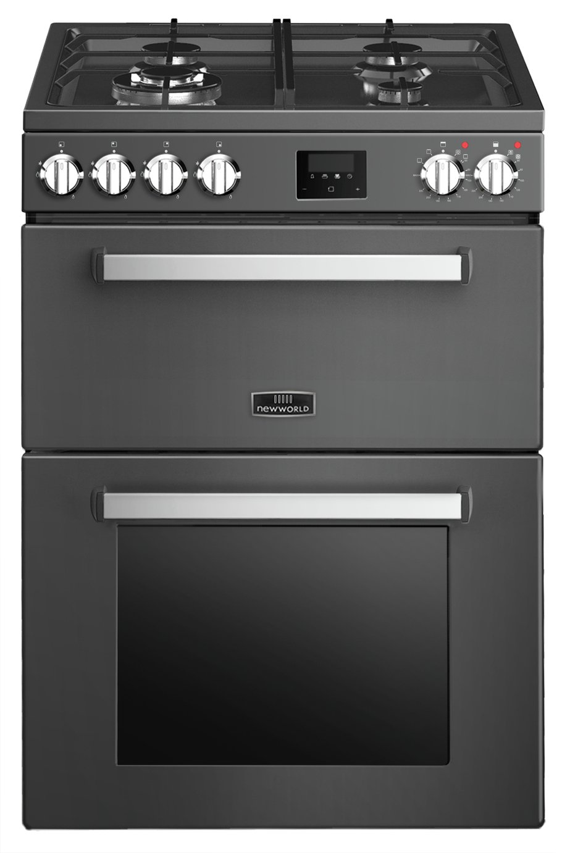 New World Macdui NWMC60DFB 60cm Dual Fuel Cooker - Black