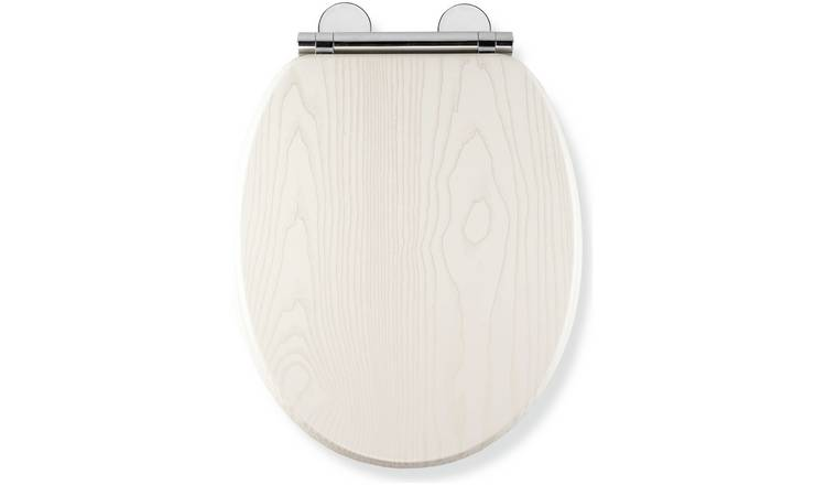 Croydex Moulded Wood Toilet Seat - White Oak Effect