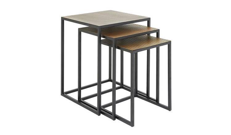 Habitat Raza India Nest of 3 Tables - Gold