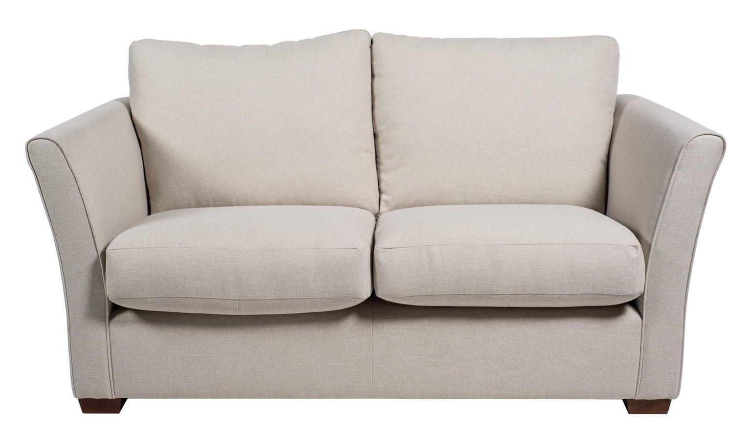 Argos Home Dawson 2 Seater Fabric Sofa - Natural
