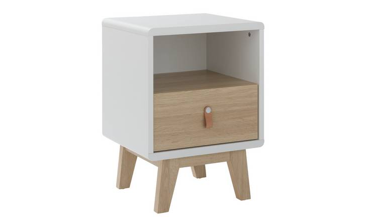 Argos Home Copenhagen 1 Drawer Bedside Table - Two Tone