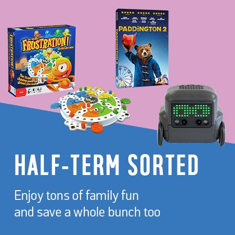 Half term sorted. Enjoy tons of family fun and save a whole bunch too.