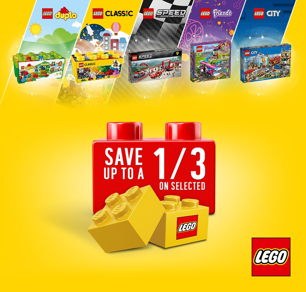 Save up to 1/3 on selected LEGO.