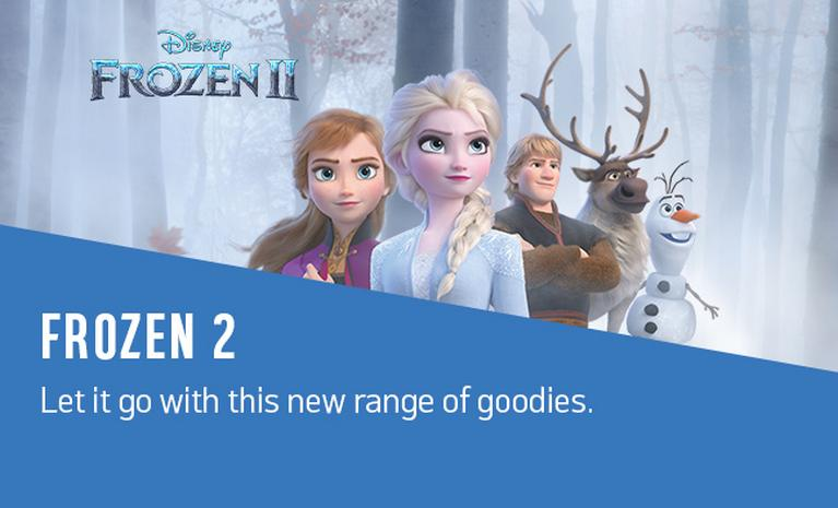Frozen 2. Let it go with this new range of goodies.