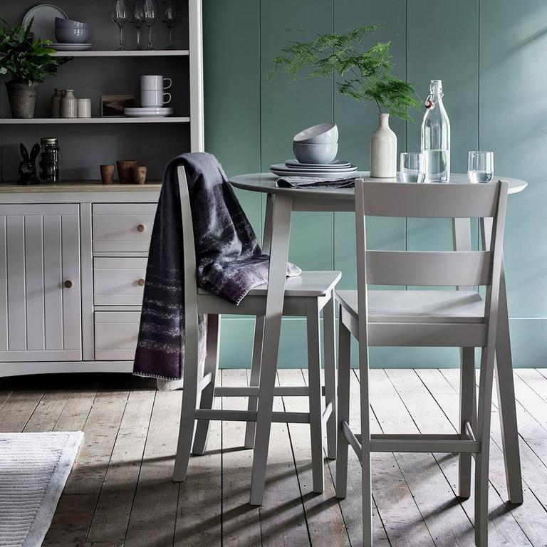 Argos Home Chicago Extending Bar Table & 2 Stools - Grey.