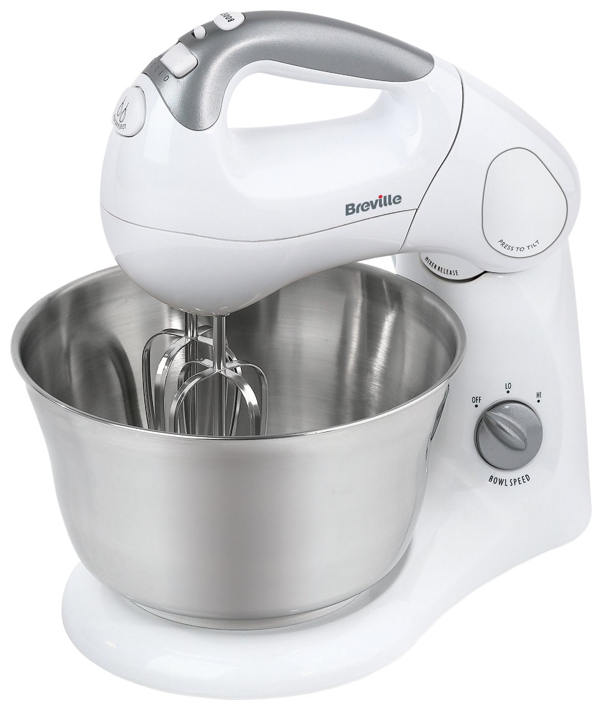 Image of Breville - SHM2 Twin Motor - Hand and Stand Mixer - White