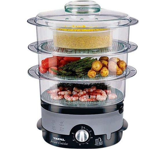 Small Food Steamer ~ Tefal vc tier black ultra compact steamer w l