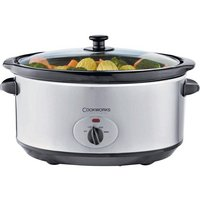 Cookworks 5.5L Slow Cooker (Stainless Steel)