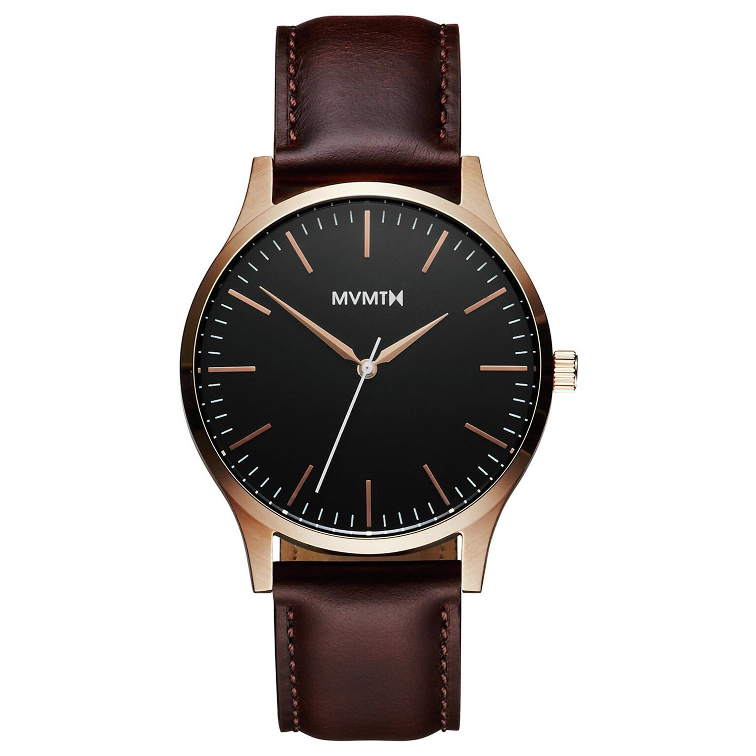 MVMT Men's Brown Leather Strap Watch