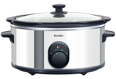 Breville ITP137 4.5L Slow Cooker - Stainless Steel