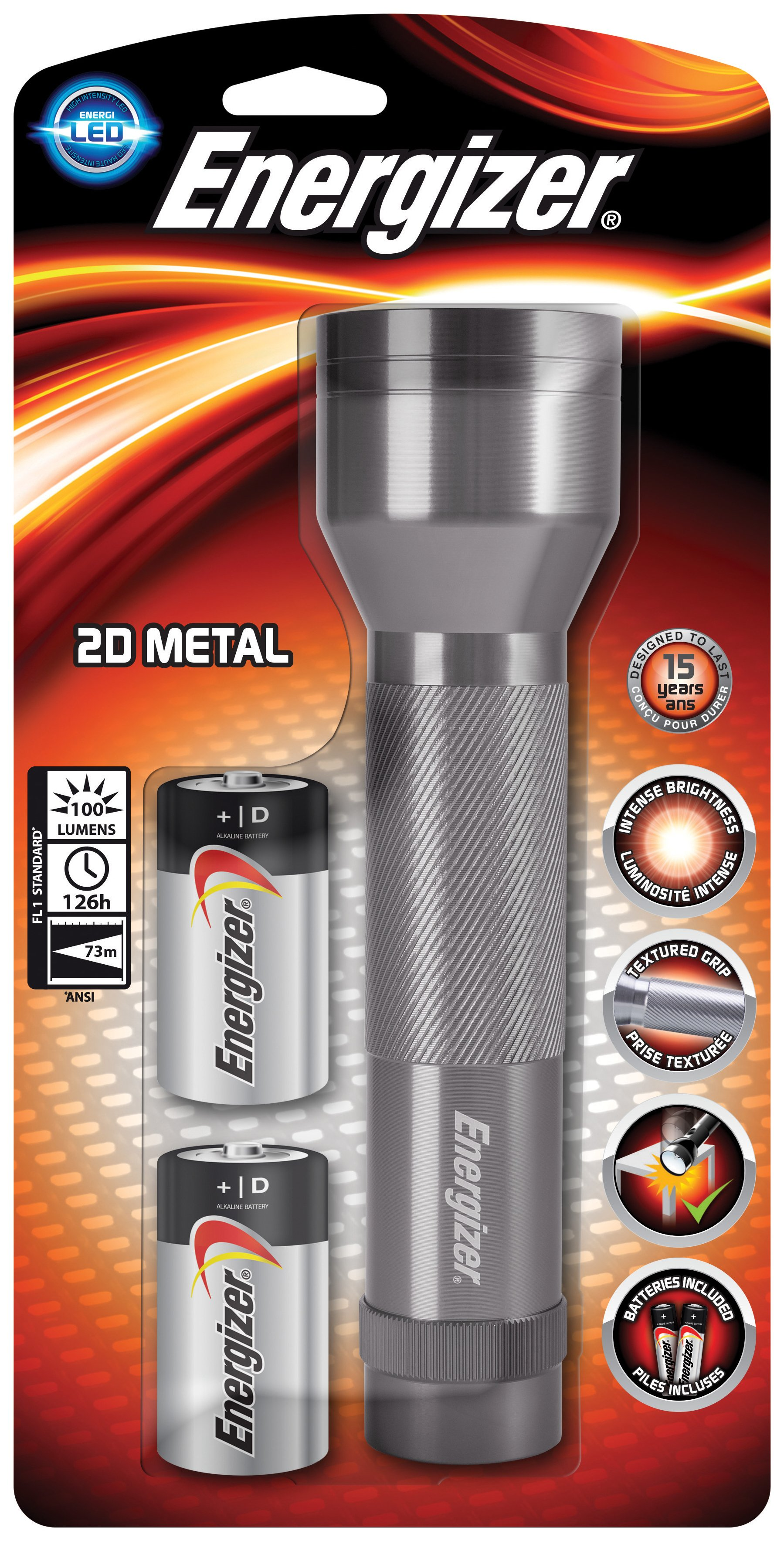 Energizer - 100 Lumen Metal Torch
