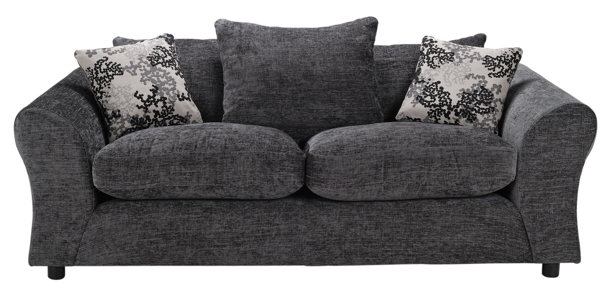HOME - Clara Large and Large Fabric - Sofa - Charcoal