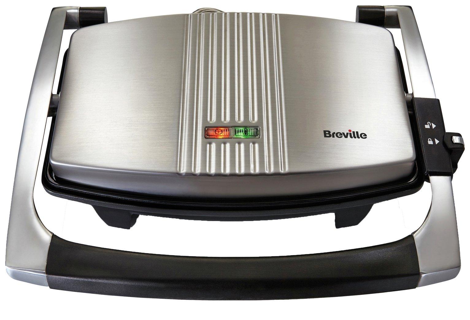 Image of Breville - Toaster - VST025 - 3 Slice Sandwich Press - Stainless Steel