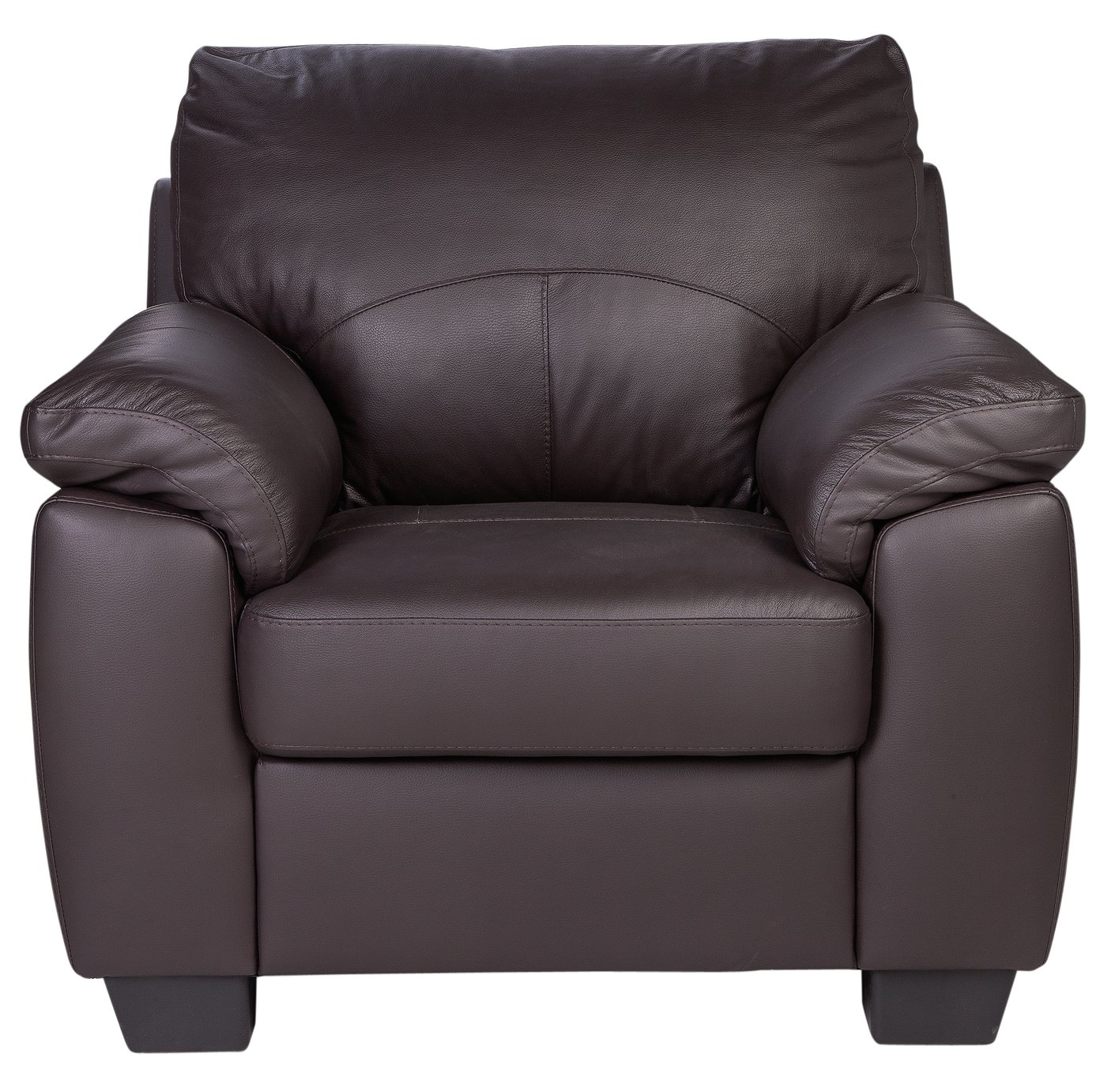 Argos Home Logan Leather Mix Armchair - Chocolate