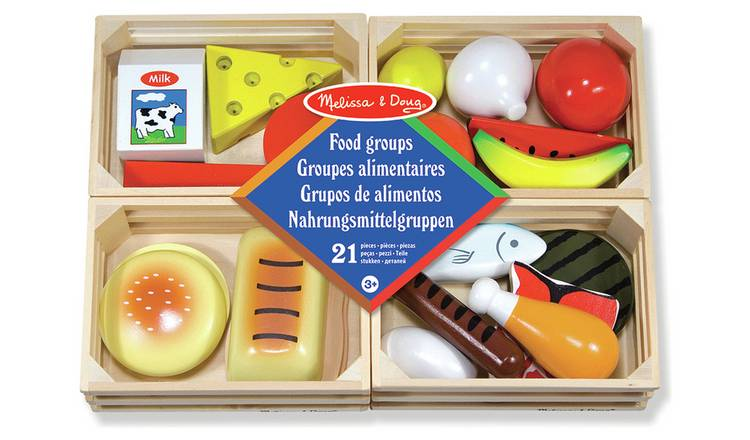 Buy Melissa Doug Food Groups Wooden Set Role Play Toys Argos