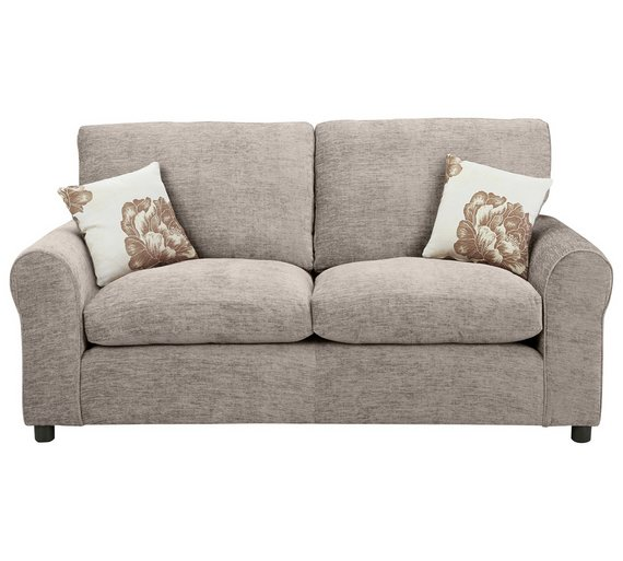 Buy home tessa 2 seater fabric sofa bed mink at for Sofa bed argos