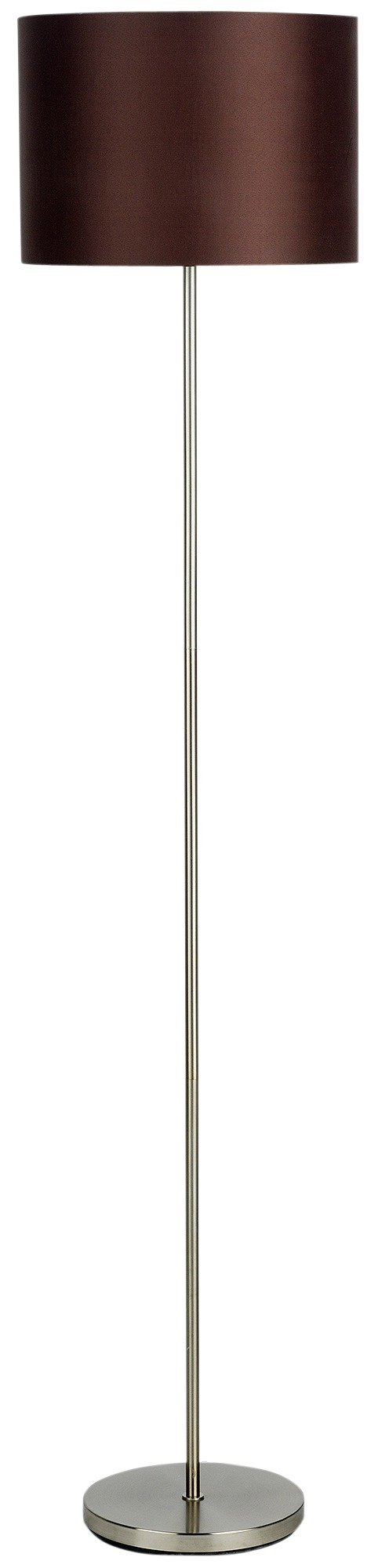 colourmatch satin stick floor lamp  chocolate.