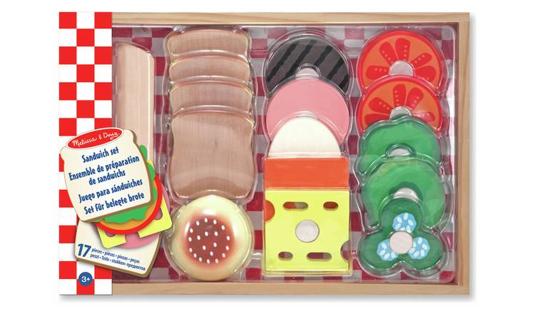 Buy Melissa Doug Wooden Sandwich Making Set Role Play Toys Argos