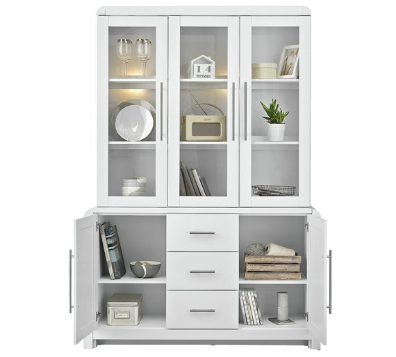 buy heart of house elford 5 door 3 drawer display unit. Black Bedroom Furniture Sets. Home Design Ideas