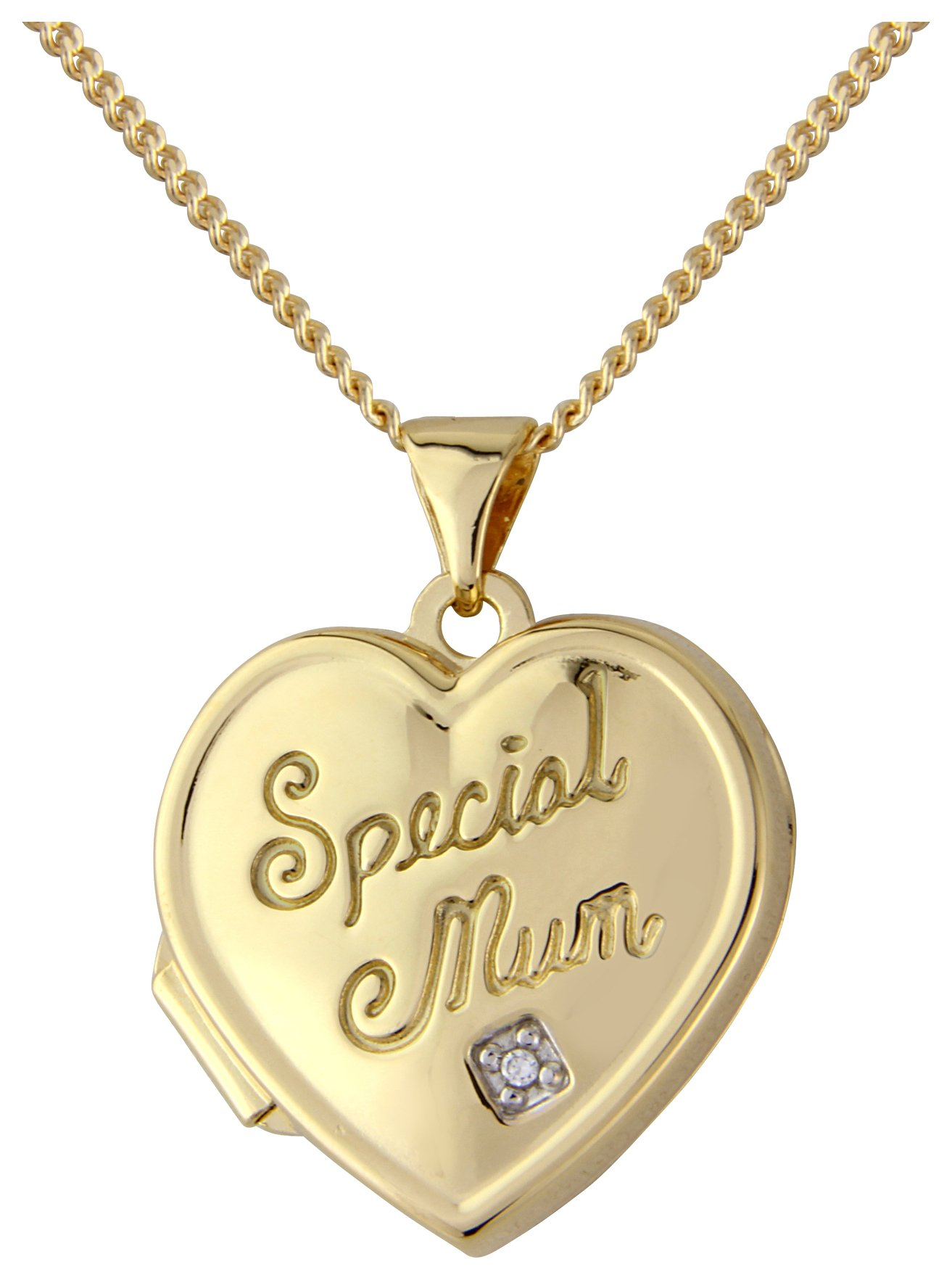 9ct Gold Plated Silver Heart 'Special Mum' 2 Photo Locket