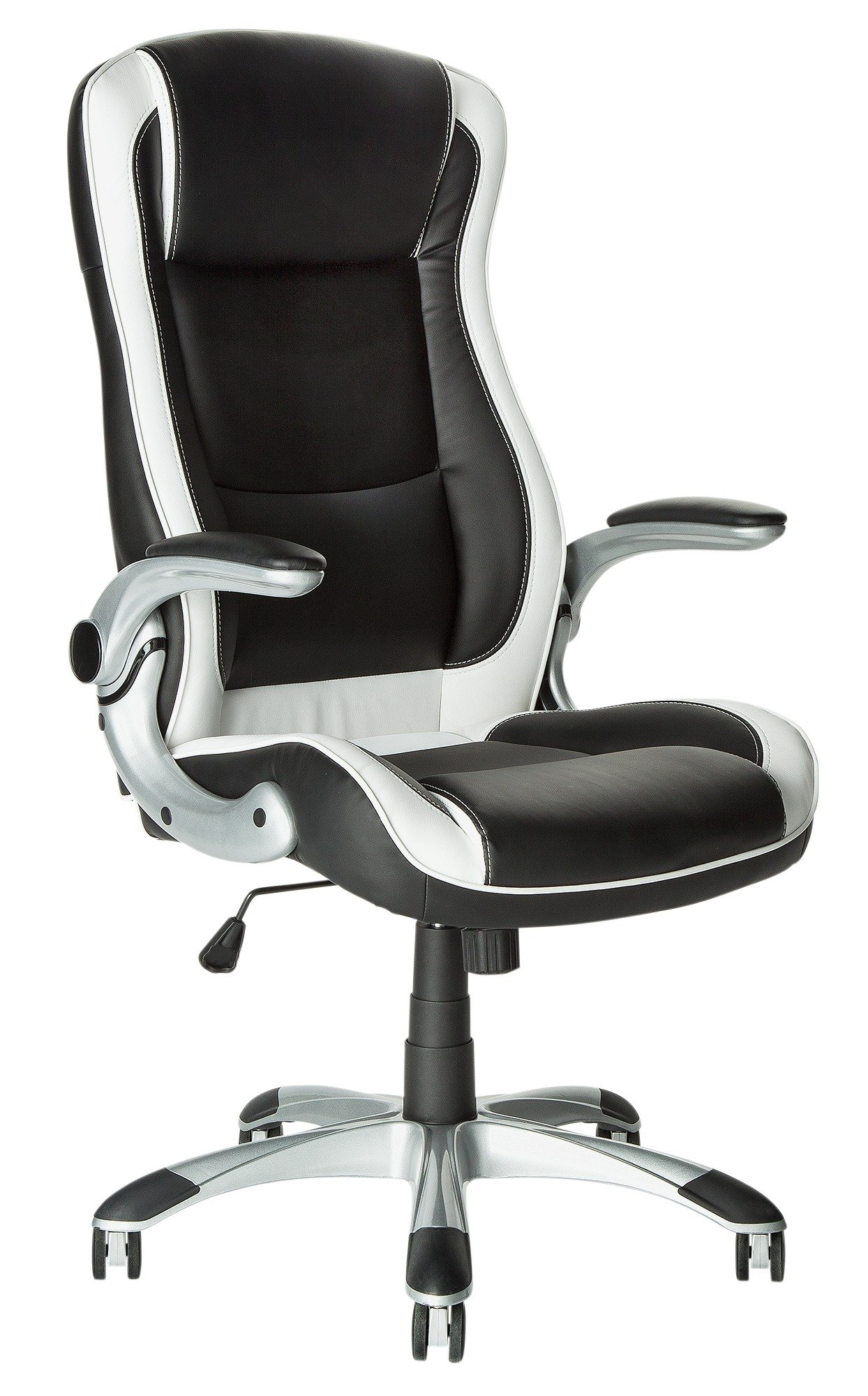 adjustable chairs with wheels. home dexter height adjustable office chair - black/white chairs with wheels e