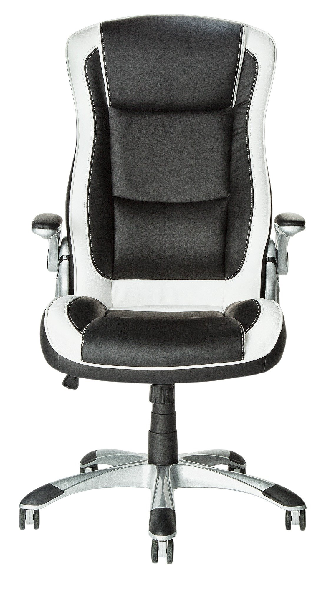 buy home dexter height adjustable office chair - black/white at
