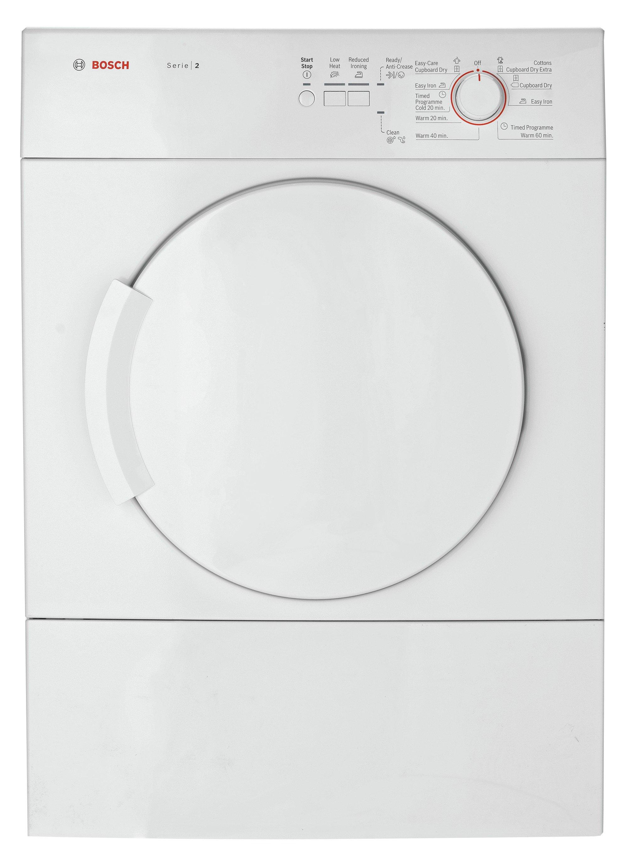 Bosch WTA74100GB Vented Tumble Dryer - White.