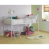 Lucas - Single Midsleeper Bed Frame - White