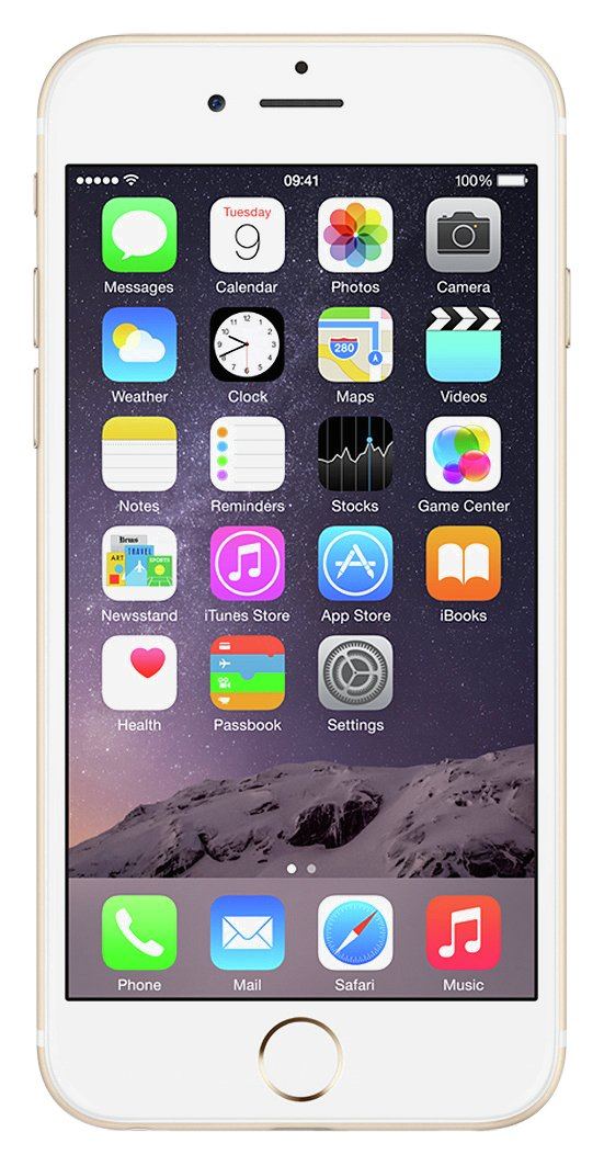 Apple Sim Free Apple iPhone 6 128GB Mobile Phone - Gold.